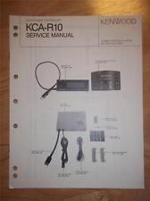 Kenwood Service Manual~KCA-R10 CD Changer Controller~Original Repair Manual