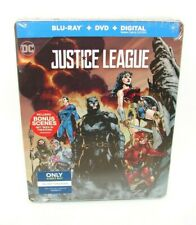 Justice League (Blu-ray/Dvd, 2018, SteelBook Best Buy Edition) Brand New Sealed!
