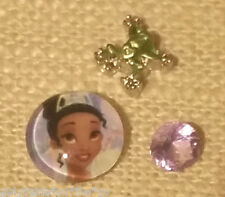 *TIANA - FROG PRINCESS* Floating Charm Set & Origami Owl Stardust Crystal