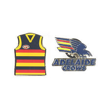 Adelaide Crows Official AFL Team Logo & Guernsey Collectors Pin Badge
