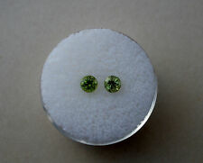 Peridot Round Loose Faceted Natural Gem Pair 4mm each