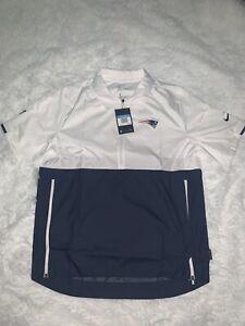 NWT Nike New England Patriots 1/4 Zip Pullover Medium On Field Apparel $70