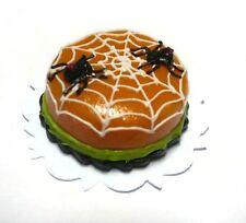 Halloween Cake Spiderweb Dollhouse Miniatures Food Deco Holiday Season 18