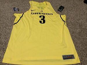 Nike Oregon Ducks Basketball Jersey  #3 Yellow Size: 2XL Men's  Elite