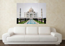 Large Taj Mahal India Mosque Tourist Monument Wall Poster Art Picture Print