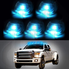 5X Clear 264142BK Cab Marker Light Covers+ 5x Free Bulbs Ice Blue For Ford F-250