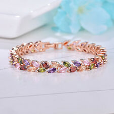 Valentines Monalisa Multi Amethyst Peridot Morganite Rose Gold Plated Bracelets