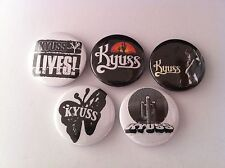 5 Kyuss Pin Button badges 25mm Welcome to Sky Valley Demon Cleaner Gardenia