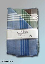 10 Stück Herren Arbeitstaschentuch Stofftaschentuch Arabias Arbeitstaschentücher