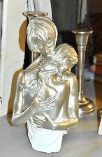 DekoObjekt Figur Liebendes Paar Silber/Weiß  erotische Statue
