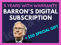 Barron's 5 Years Digital Subscription All Platforms Region Free + $50 FREE GIFT!