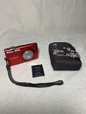 Nikon COOLPIX S205 12.0MP Digital Camera Red - Not Tested