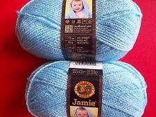 Lion Brand Jamie baby yarn,  Blue bonnet, lot of 2 (137 yds each)