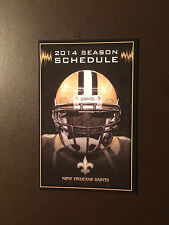 New Orleans Saints 2014 NFL pocket schedule - Mercedes Benz
