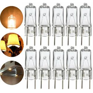 10/20 Pack G8 Base Bi-Pin Halogen Light T4 JCD Bulb 120V 35W Clear Capsule