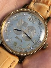 RARE Vintage Nivada 50th ANNIVERSARIO Donna Hand-winding Coin Watch Swiss Beauty