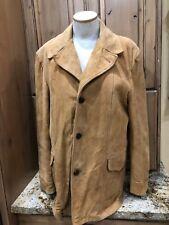 VTG Van Heusen Suede Leather Lined Coat 44