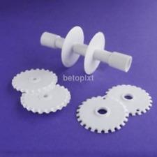 Fondant Strip Ruban Cutter Sugarcraft Tool Cake Rolling Pin Embosser Roller Set