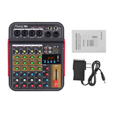 4Channel Mini Audio Mixer Bluetooth USB DJ Sound Mixing Console Amplifier Studio