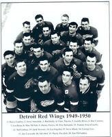 1949 1950 DETROIT RED WINGS 8X10 TEAM PHOTO HOCKEY NHL HOWE STANLEY CUP MICHIGAN
