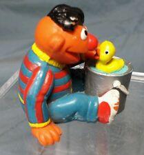 Vintage ERNIE w/Rubber Duckie Sesame Street PVC Cake Topper Figurine Applause