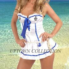 Sailor Navy Girl Fancy Dress Halloween Costume Rockabilly Pin Up Outfit Size 6-8