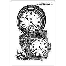 New LA BLANCHE Silicone Rubber Stamp clock works  VINTAGE  free USA ship