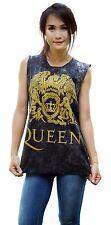 Queen Freddie Mercury Rock Band Tank Top Vest Singlet Black T Shirt