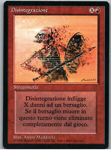 Disintegrate | MtG Magic Revised Edition FBB Foreign Black Border | Italian | LP