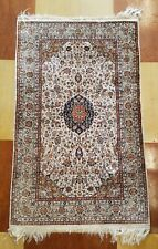 Fine Vintage Silk Carpet Rug Hand Knotted Thick Pile 3' x 5'