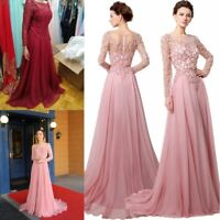 Chiffon Long Prom Mother Of The Bride Dresses Formal Evening Ball Gown Plus Size