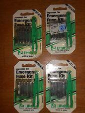 Emergency Fuse Kit for Japanese Car w/fuse puller Littelfuse lot of 4 value paks