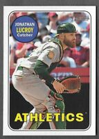 JONATHAN LUCROY 2018 Topps Heritage High Number SP ACTION Variation #517 A's