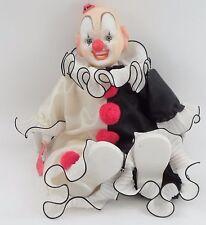 MWT 1988 Global Art Larry Harmon Porcelain Creepy Bozo the Clown Musical Doll