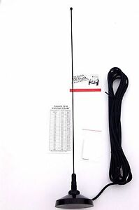 Taxi aerial mag mount Private Hire PMR Radio Antenna kit BNC connector VHF