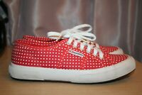 SUPERGA 2750 COTU Classic Red Polka Dots Canvas Sneaker Women's US Size 8.5