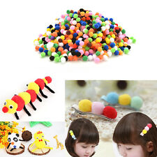1000 Pcs Bricolage Mixed Color Mini Soft Fluffy Pom Poms Pompoms Ball 10mm