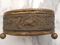 Boite coffret bijoux décor chasse à courre verre biseauté époque Napoléon III 19