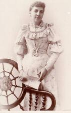 Cabinet card women Victorian fashion bike bicycle Hayes studio Detroit Mi Zeus