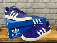 ADIDAS PURPLE SUEDE CAMPUS TRAINERS VARIOUS SIZES LADIES CHILDRENS *RE DYE*