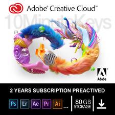 Adobe Creative Cloud | 2 Years | With 80GB | For Mac/PC