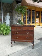 Outstanding Mahogany Banded Inlay Chest On Frame with Brass Hardware 19thc