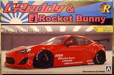 2012 toyota 86 Greddy & Rocket Bunny Enkei mando a la izquierda 1:24 Aoshima 07624 JDM