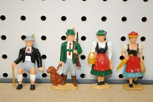 LGB 5141 Black Forest Figures in Traditional Dress w/Seated Man *G-Scale*