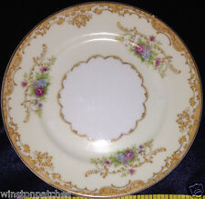 "JAPAN CHINA G.H.B. & S. JUDITH BREAD & BUTTER PLATE 6 1/4"" FLOWERS & TAN SCROLLS"