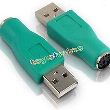 PS/2 PS2 Buchse zu USB 2.0 A Stecker Adapter Konverter für Maus Mouse Tastatur