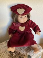 American Girl Doll Bitty  Baby Gold Heart Dress Hat Outfit Velour Clothes Only