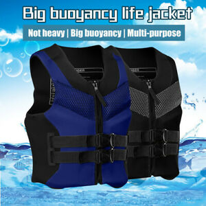 Adult Adjustable Life Jacket Safety Life Vest Kayaking Boating Swimming Drifting