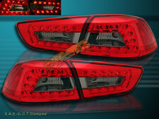 FIT 08-2011 MITSUBISHI LANCER / EVOLUTION RED SMOKE LED TAIL LIGHTS 4PCS NEW