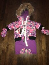 Infant Girls CANADA Weather Gear Purple Pink & Gray SnowSuit NWT 3-6 Months $110